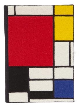 Olympia Le-Tan Mondrian Box Clutch - Black Multi