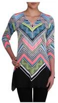 Nygard Collection V-Neck Tunic With Zipper