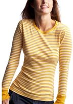 Striped long-sleeved layering T