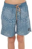 Rusty Kids Boys Chow Mein Elastic Boardshort Blue