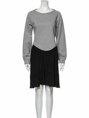 No.21 Bateau Neckline Knee-Length Dress Grey