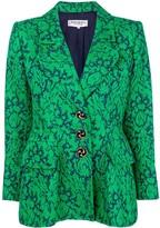 Saint Laurent Pre Owned floral-jacquard blazer
