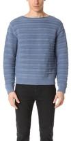 Vince Horizontal Textured Crew Sweater