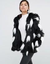 Little Mistress Ombre Faux Fur Coat