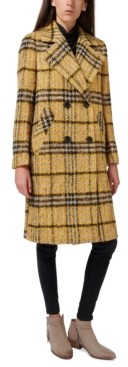 Sam Edelman Oversized Double-Breasted Plaid Coat, Created for Macy's