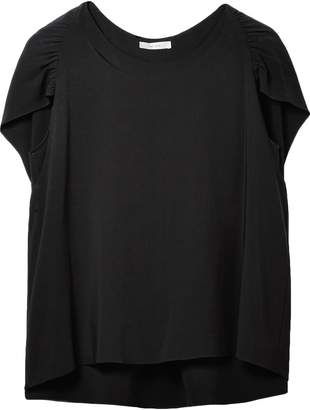 The Row Cape-effect Gathered Cady Blouse