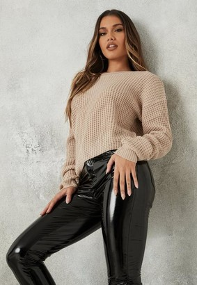 Missguided Tall Nude Off The Shoulder Knit Sweater