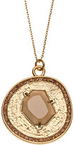 Vince Camuto Gold-Tone Pendant & Necklace