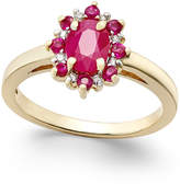 Macy's Ruby (1-1/4 ct. t.w.) and Diamond Accent Ring in 14k Gold