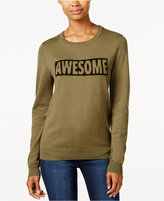 Ultra Flirt Juniors' Awesome Graphic Sweater