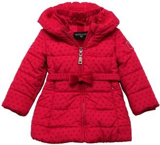 MonnaLisa Velvet Heart Nylon Puffer Jacket