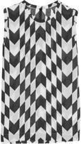 Gareth Pugh Printed modal-blend top