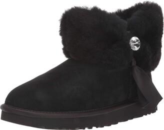 UGG Women's Cinched Fur Mini Fashion Boot