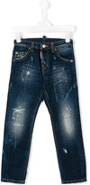 DSQUARED2 distressed jeans - kids - Cotton - 8 yrs