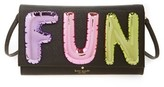 Kate Spade Whimsies Fun Balloon Saffiano Leather Clutch - Black