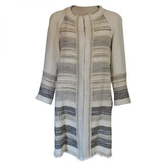 Edward Achour Ecru Cotton Coat for Women