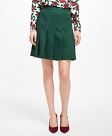 Brooks Brothers Wool-Blend Pleated Skirt