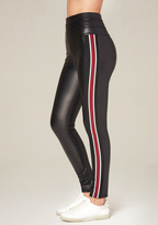 Bebe Racing Stripe Tux Leggings