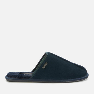 Barbour Men's Malone Suede Slippers - Navy Suede