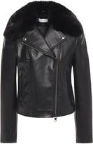 Bailey 44 Faux Fur-trimmed Faux Leather Biker Jacket