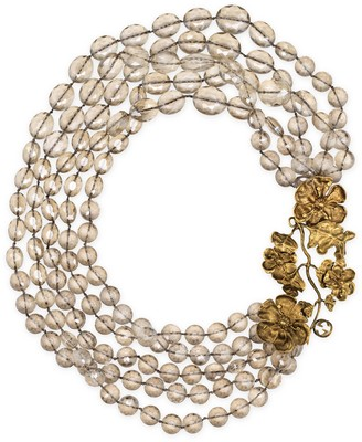 Gucci Beaded necklace with floral details