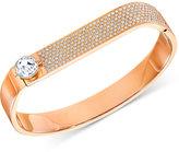 Swarovski Crystal and Pavé Hinged Bangle Bracelet
