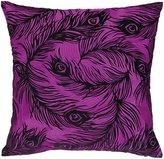 Nanette Lepore Peacock Fuschia Embroidered Pillow