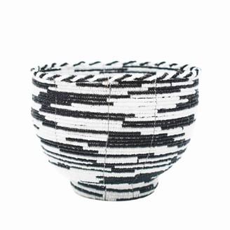 Poppy + Sage Beaded Bali Bowl - Black & White Pattern