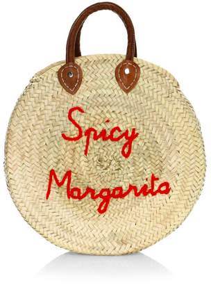 Poolside Large Round Spicy Margarita Beach Bag