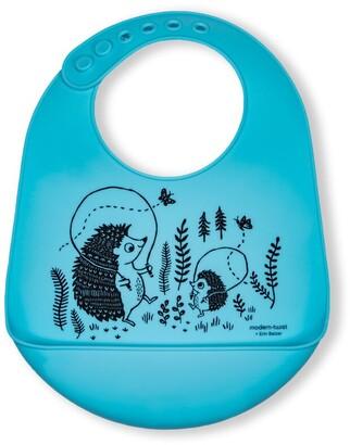 Modern Twist Bucket Bib - Hedgehog Family