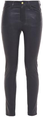Frame Le High Skinny Leather Skinny Pants