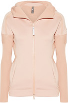 adidas by Stella McCartney Z.n.e Stretch-jersey And Ribbed-knit Hooded Top - Pastel pink