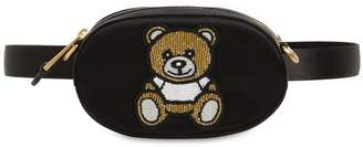 Moschino Embellished Silk Satin Belt Bag