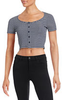 Design Lab Lord & Taylor Ribbed Cropped Top