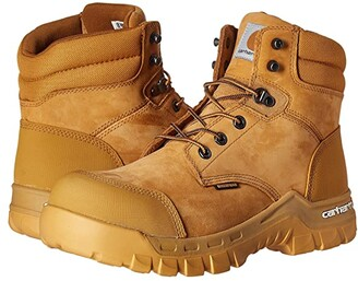 Carhartt 6 Rugged Flex Waterproof Comp Toe Work Boot (Wheat Oil Tanned Leather) Men's Work Boots