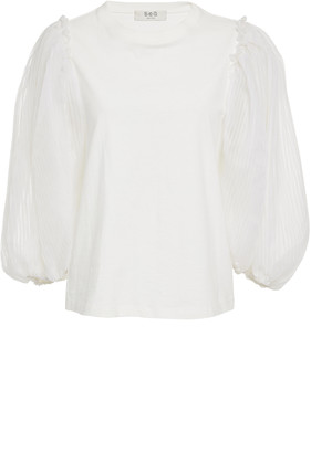 Sea Olive Wool and Silk Top