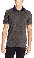 Vince Camuto Men's Marled Stripe Short-Sleeve Polo Shirt