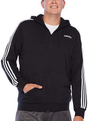 adidas Big and Tall Mens Long Sleeve Hooded Hoodie