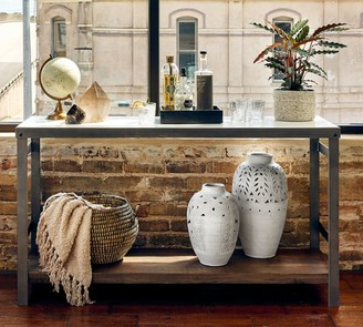 """Pottery Barn Upland 60"""" Marble Console Table"""