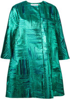 Gianluca Capannolo cropped sleeves coat - women - Silk/Polyamide/Polyester - 40