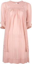 Isabel Marant embroidered silk dress - women - Silk - 34
