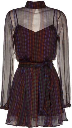 A Peace Treaty Aleila Printed Mini Dress