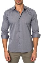 Jared Lang Men's Trim Fit Dot Sport Shirt