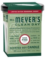 Mrs. Meyers Clean Day Candle - Iowa Pine, 4.90-Ounce (Pack of 2)