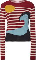 RED Valentino Striped Wave Sweater