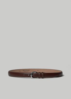 Séfr Men's Leather Belt in Brown Size 95