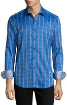 Robert Graham Demonte Jacquard Sport Shirt, Blue