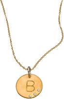 Nashelle Gold Circle Initial Pendant
