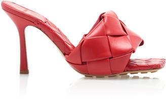 Bottega Veneta Braided Leather Heeled Mules