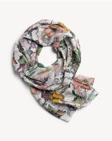 Rag & Bone Chiffon floral camo scarf